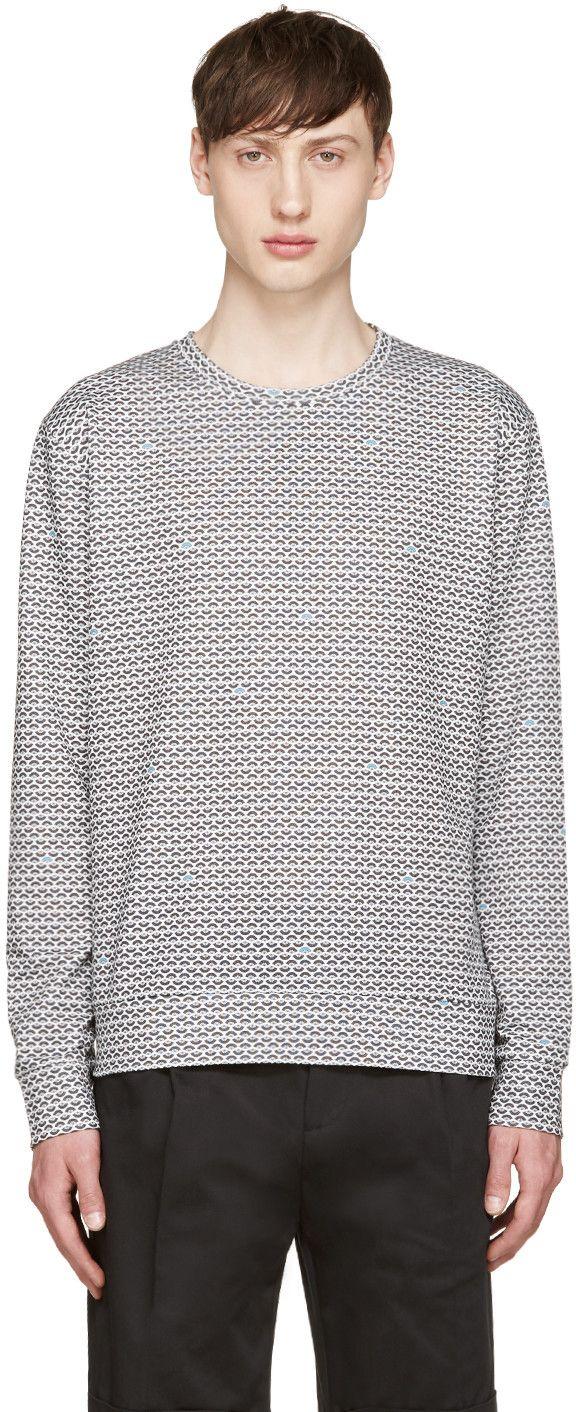 GIULIANO FUJIWARA WHITE & BLACK FAN PULLOVER. #giulianofujiwara #cloth #pullover