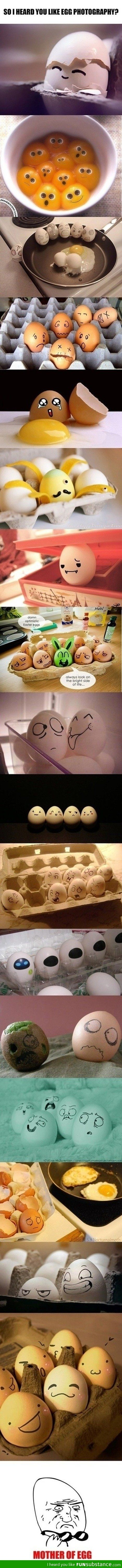 Egg art...The one with the kiwi...Oh my gosh. --so weird but still so funny!