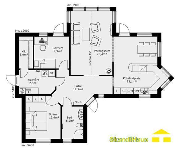 Schwedenhaus bungalow grundriss  123 besten Häuslebauer Bilder auf Pinterest | Sweet home ...