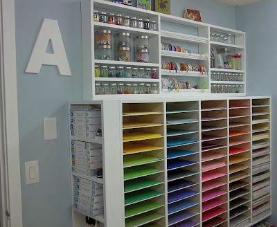 Gorgeous craft room makeover on a 22 dollar budget! awesome ideas for storage.