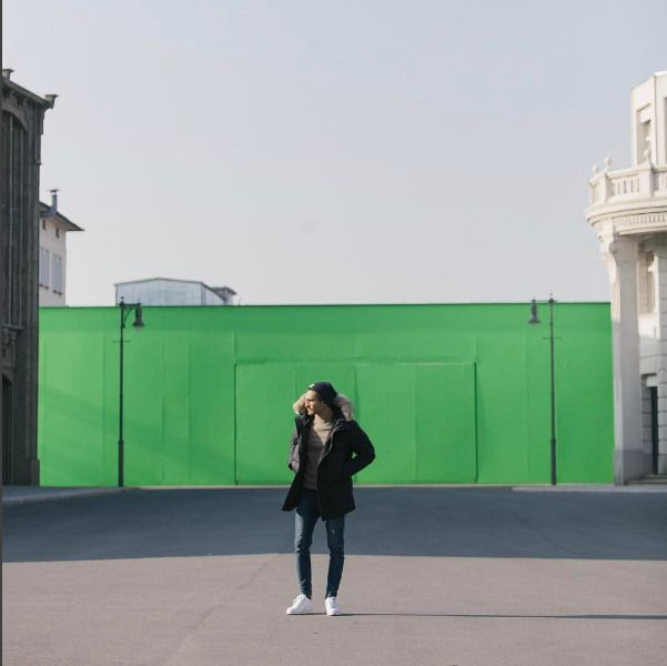 With the magic of a green screen, the back lot at Studio Babelsberg can transform from 1920's Berlin to modern day New York City. What time or place would you picture#musthave#rtw2017#winterfashion