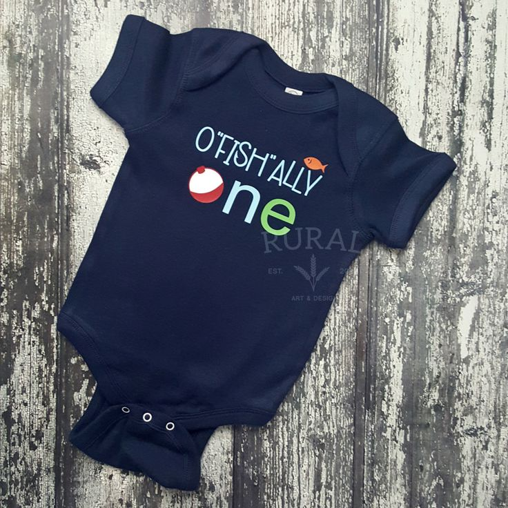 How adorable will your little fishing buddy be on his birthday in this cute bodysuit? Fishing birthday top celebrating a very special mile-marker of his life.