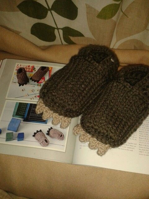 Wee beastie feet from crochet at play!