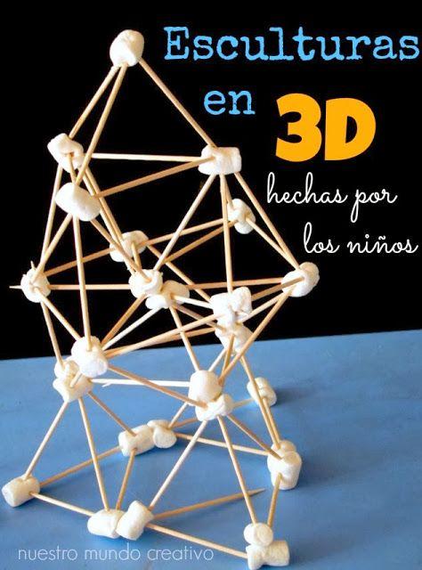 Nuestro Mundo Creativo: Esculturas en 3D para niños