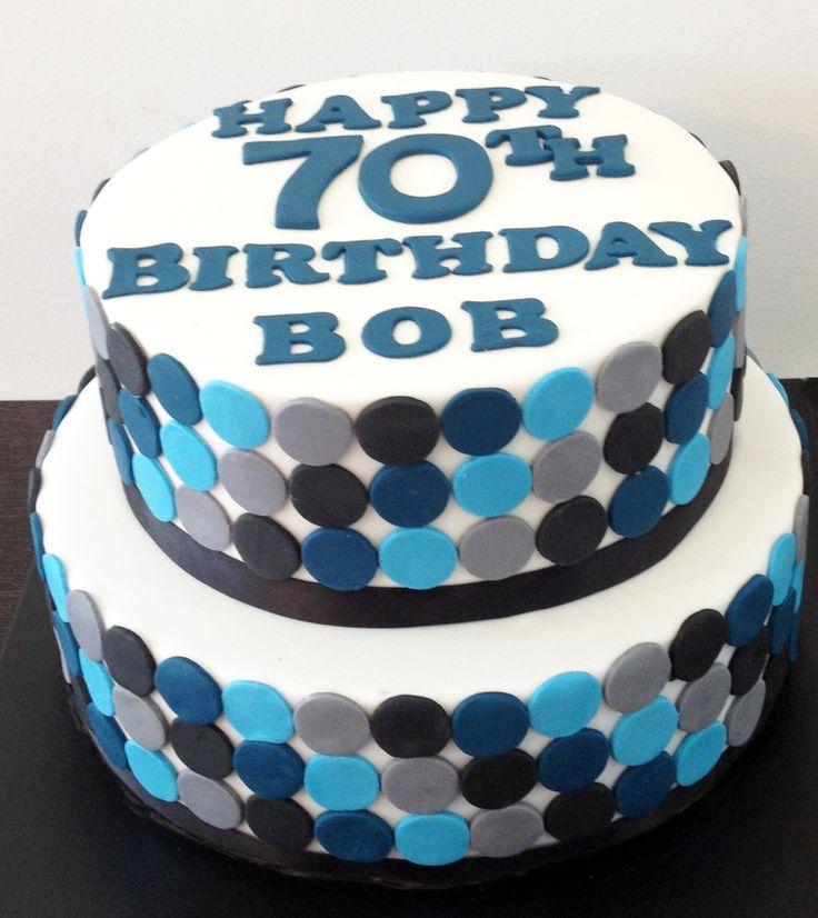 2 Tier Polka Dot Cake Like us at www.facebook.com/melianndesigns