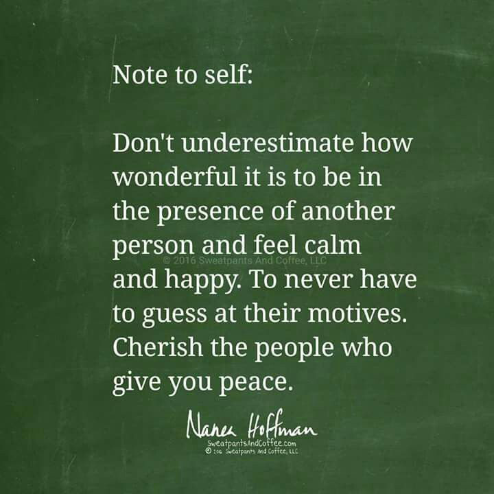People who give you peace