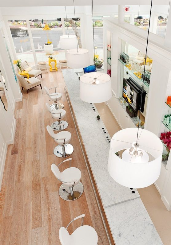 Dry Bar has locations all around NYC specializing in beautiful blow outs (they don't offer cuts or coloring). The sleek salon pampers clients on a budget, with $40 wash and blow drys as well as hair treatments named after cocktails to go with the bar concept.
