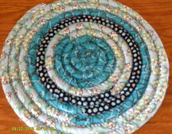 Just Turquoise and Brown 10 inch diameter Handmade by Bonnie1025, $16.00