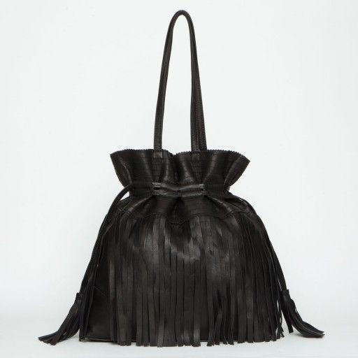 Tote Bag con flecos Hippy Habibi – Black