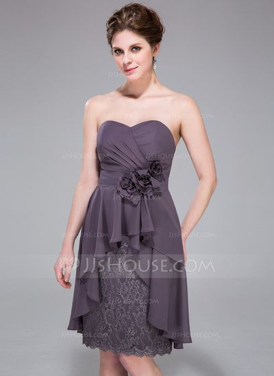 Cocktail Dresses - $122.99 - Sheath Sweetheart Knee-Length Chiffon Lace Cocktail Dress With Ruffle Beading Flower(s) (007037330) http://jjshouse.com/Sheath-Sweetheart-Knee-Length-Chiffon-Lace-Cocktail-Dress-With-Ruffle-Beading-Flower-S-007037330-g37330?ves=vnlx6&ver=ln6dy