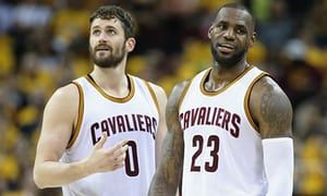 Kevin Love and LeBron James lost the NBA finals to the Warriors this year