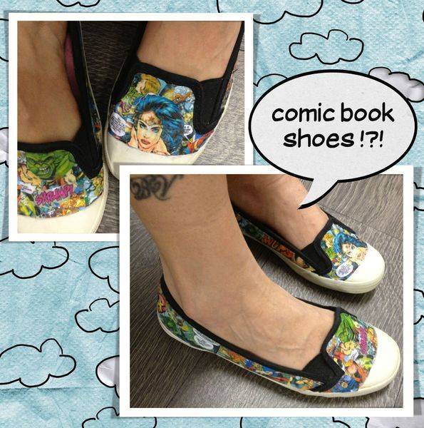 comic book shoes, customisation