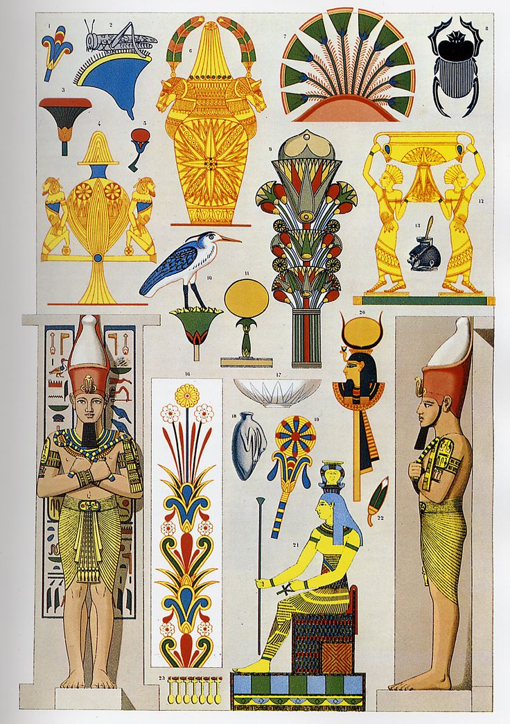 Ancient Egypt ornaments