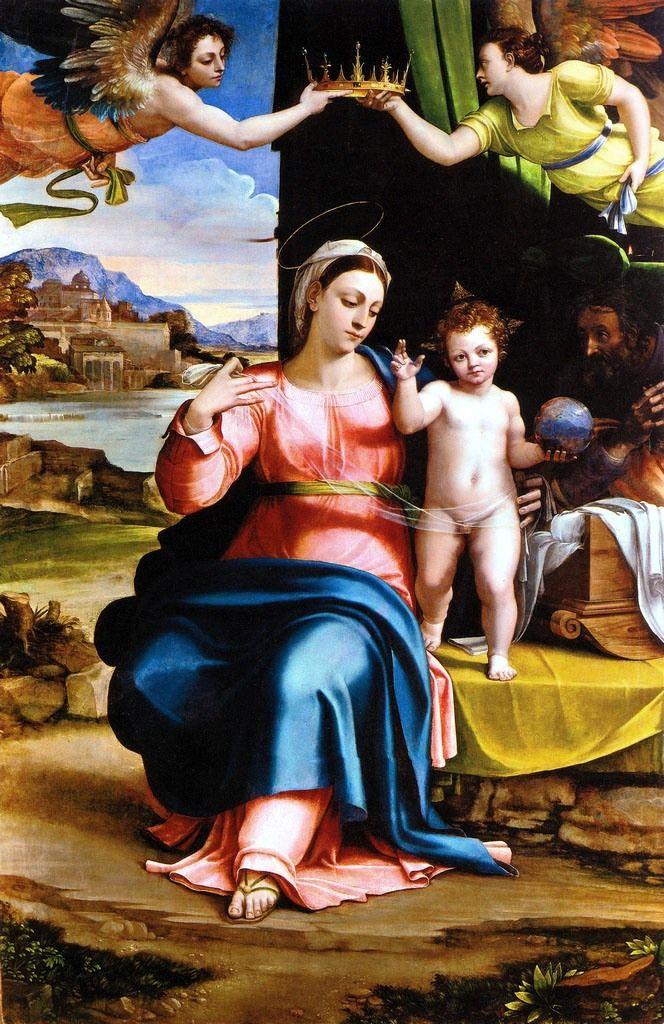 Sebastiano del Piombo - Sacra Famiglia e due angeli - 1520