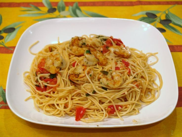 Recipe shrimp pasta tomatoes basil