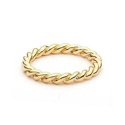 Twist Stackable Ring Gold Plated