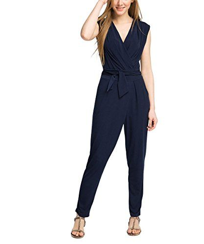 ESPRIT Collection Damen Jumpsuits 036eo1l002-mit Stretch