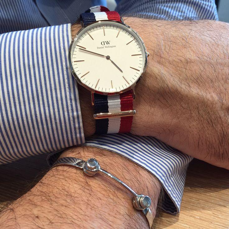 Knot silver bracelet. Daniel Wellington watches  Bracciale con nodo in argento 925. Orologio Daniel Wellington
