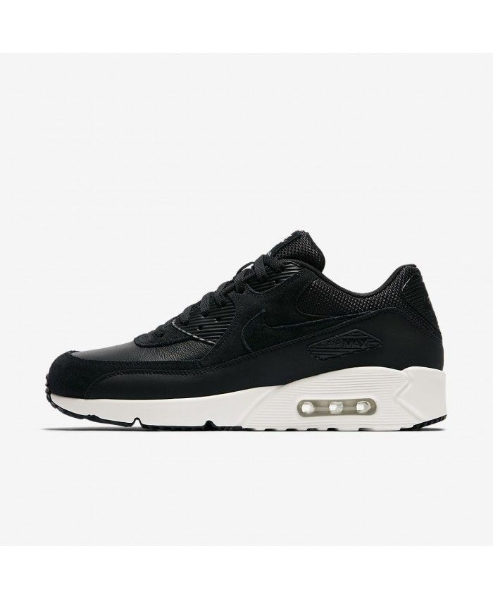 Men's Nike Air Max 90 BlackSummit White Trainers On Sale