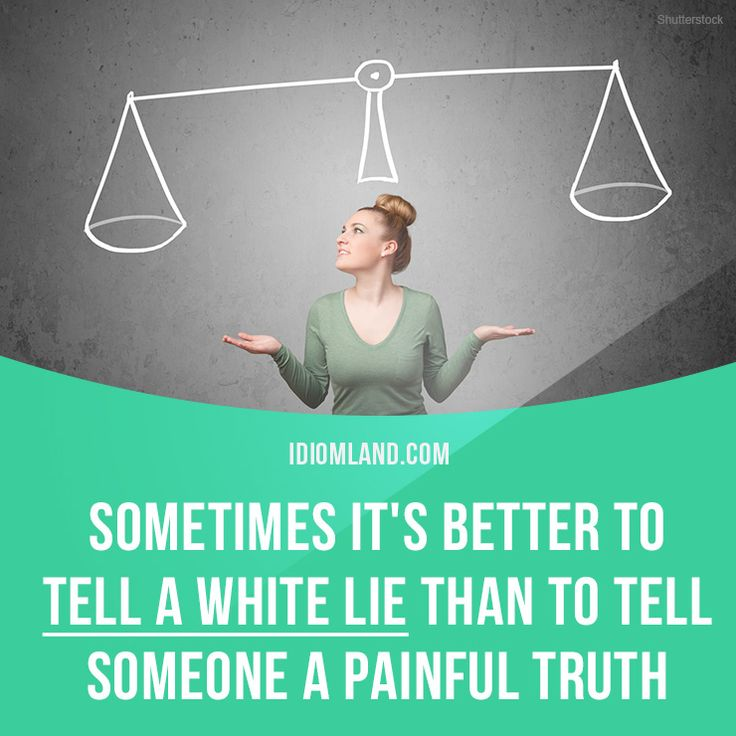 how to tell someone lie