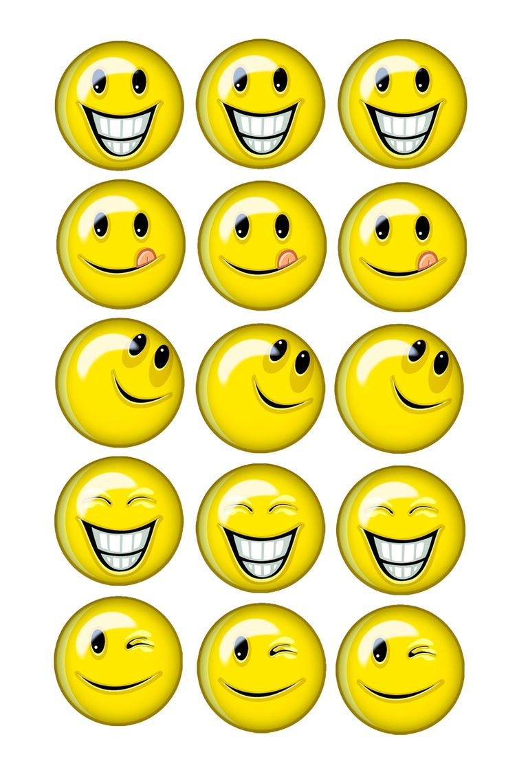Smileys : pour mémo, loto, pions ....