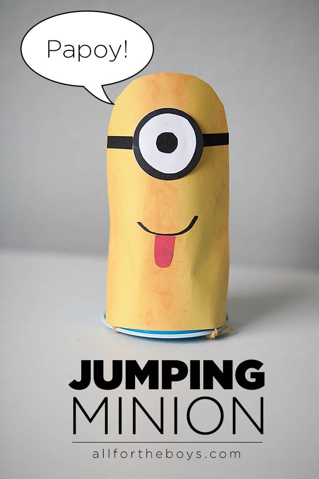 Fabulous craft ideas for boys...jumping minions!