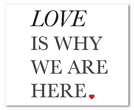 Digitaldruck Love is why, 52 x 62 cm
