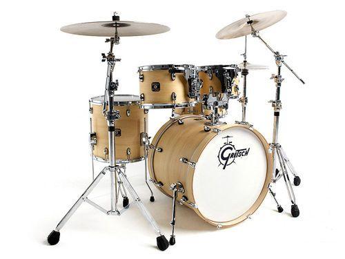 Gretsch Catalina Club Jazz 4 Piece Drum Set Satin Natural w OSP Hardware   eBay only $679!