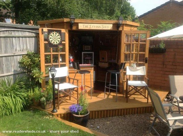 It's a backyard shed that was turned into a pub. | This Is How To Make Your Shed Into Your Own Private Bar