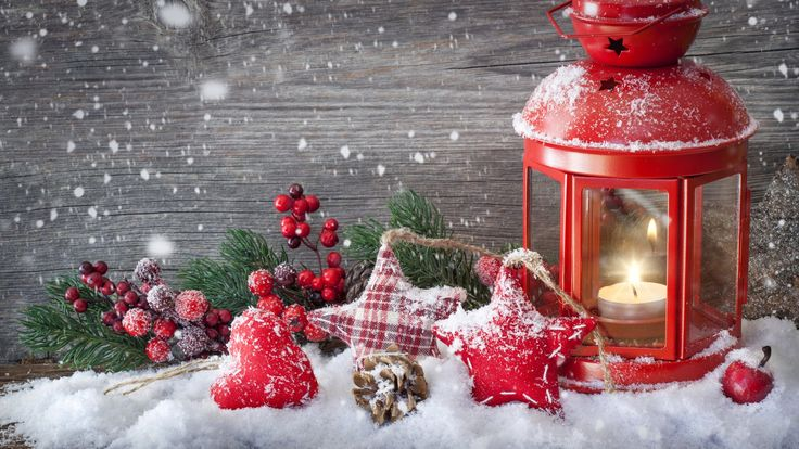 Snow Christmas Candle Wallpaper