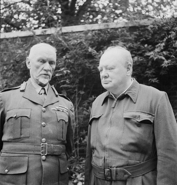The prime ministers of Britain and South Africa, Prime Ministers, Winston Churchill and Field Marshal Jan Smuts, in the garden of 10 Downing Street, London, on 5 October 1943.