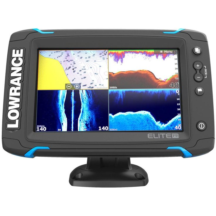 Lowrance Elite7 Ti Touch Combo wTotalScan Transom Mount