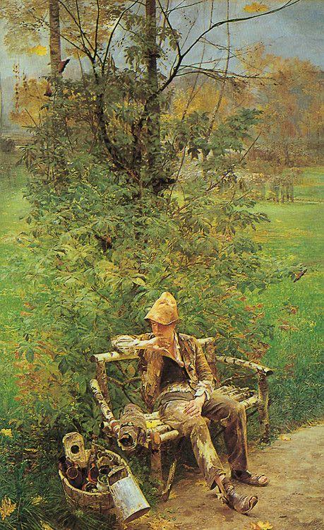 the painter boy by jacek malczewski.