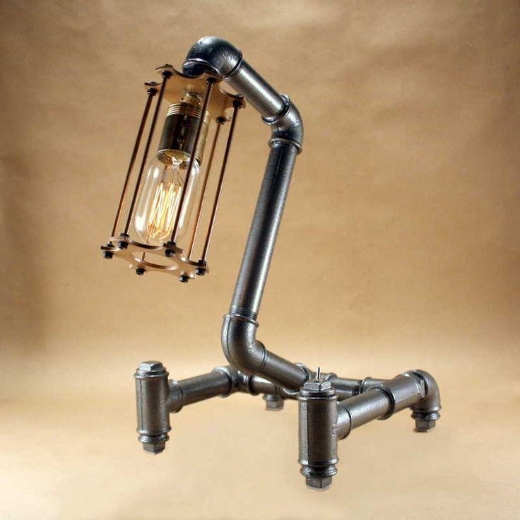 Kreativa - Egyedi steampunk lámpa, csőlámpa, hangulatlámpa