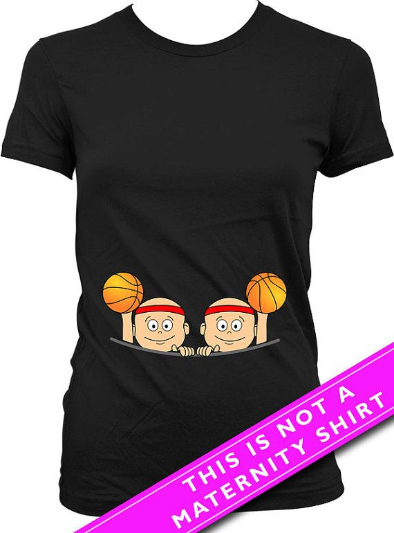 For entire collection of Twin Peeking Baby Shirts: https://www.etsy.com/ca/shop/Materniteees?section_id=17746105&ref=shopsection_leftnav_4  Pregnancy Reveal Baby Twins Basketball T Shirt  Welcome to Materniteees, pregnancy clothing made fun! ▄▄▄▄▄▄▄▄▄▄▄▄▄▄▄▄▄▄▄▄▄▄▄▄▄▄▄▄▄▄▄▄▄▄▄▄▄▄▄▄▄▄▄▄▄▄▄▄▄▄▄ COUPON CODES: Here is our way of saying thanks!  BUY 3 ITEMS GET 1 FREE (apply the coupon code 1FREE at checkout) BUY 6 ITEMS GET 2 FREE (apply the coupon code 2FREE at checkout) BUY 9 ITEMS GET 3 FREE…