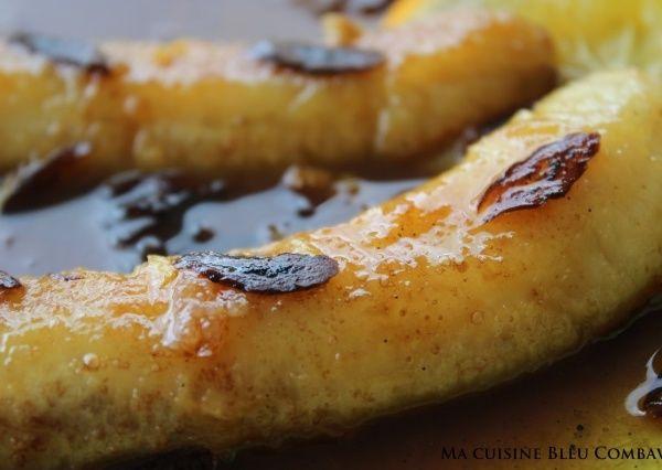Bananes Flambées façon Christian Antou (orange-café-rhum)