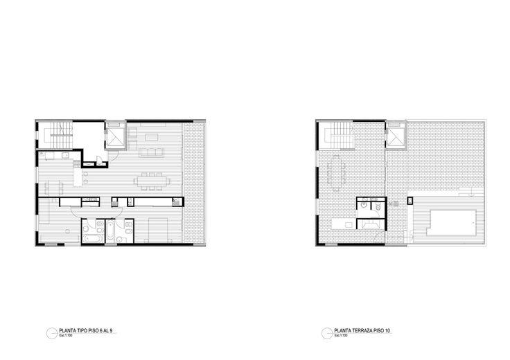 Imagen 9 de 21 de la galería de Edificio Güemes / Gerardo Caballero Maite Fernandez  Arquitectos. Planta