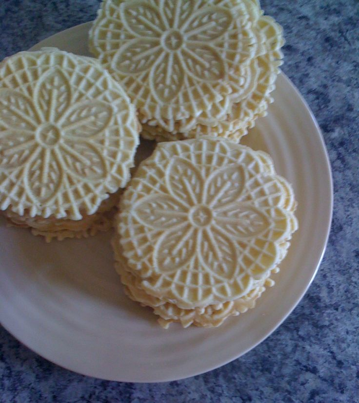 Meyer Lemon Pizzelle Cookies- Pizzelle's were a family tradition at my grandparents house during the holidays. I'm going to try the citrus twist instead of the traditional anise flavored ones.