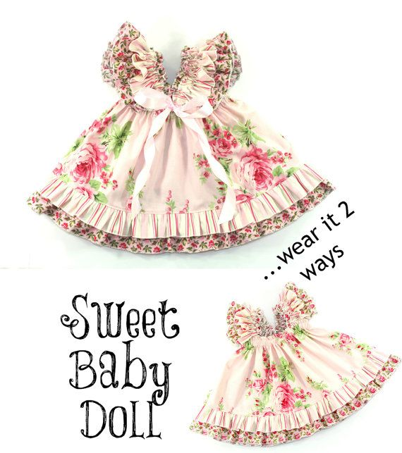 You will receive an email to your etsy account email with the download link! ~ SEWING PATTERN SWEET BABY DOLL dress: ~ What you get: ONE (1) sewing