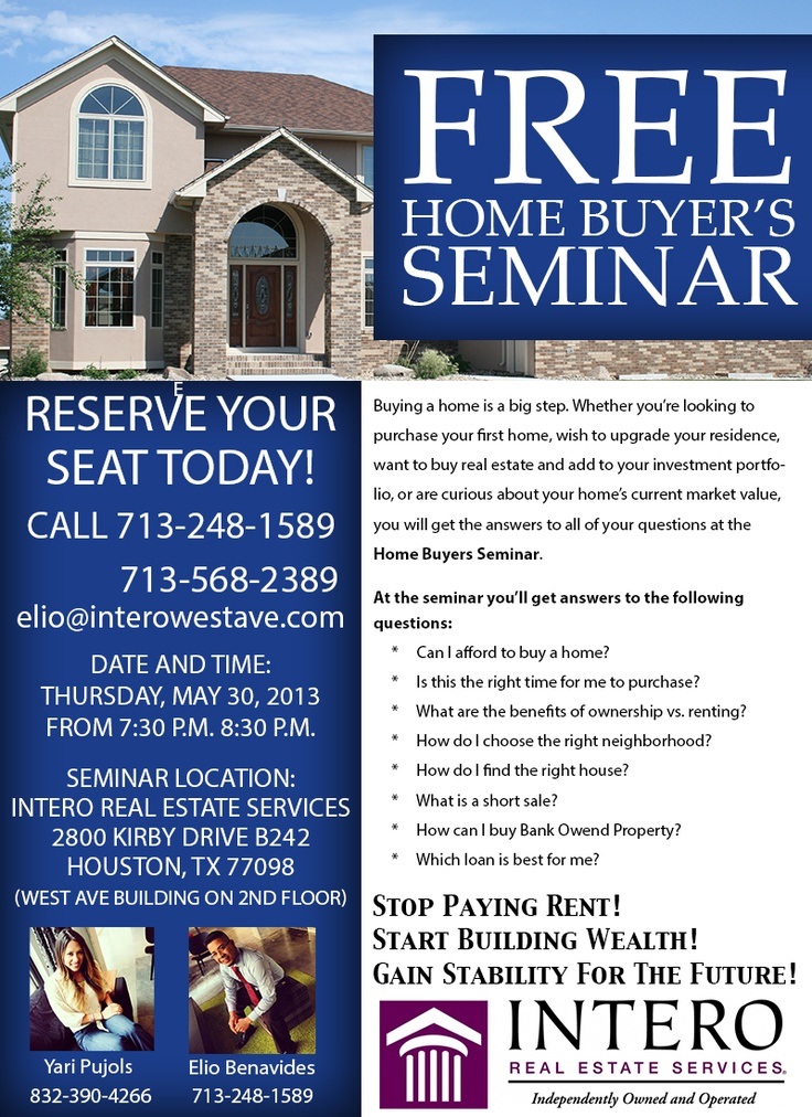 Buyer S Guide To Wardrobes: Free Home Buyer's Seminar Thursday, May 30, 2013, From 7