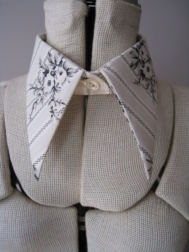 Free pattern and tutorial for pointy detachable collar