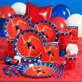 Gymnastics party theme: paper goods — Linda Kaye's Partymakers