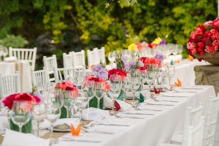 Centros de mesa para matrimonio en Quillota.