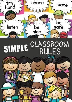 Classroom RulesThis printable classroom rules resource includes 6 class rules that will apply and cover most areas of expectation in your room.I have provided 3 options for you to display:1. Create a rules display with the large page sized posters2. Create a vertical line up of rules using the half-page lengthwise rule cards3.