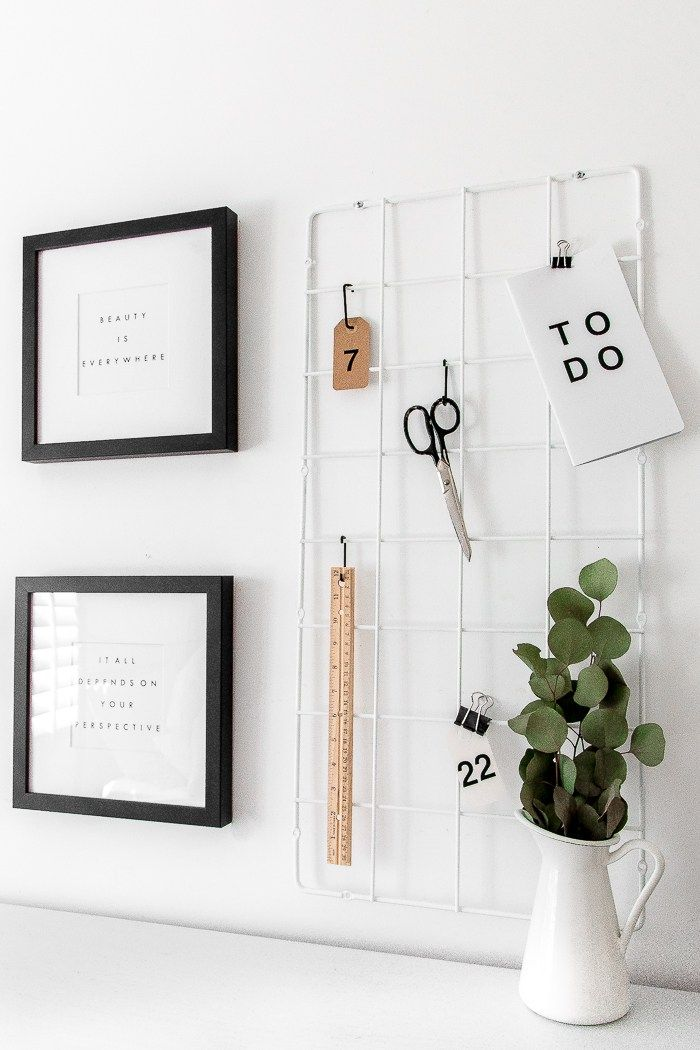 Ikea hack grid moodboard using Barso Trellis
