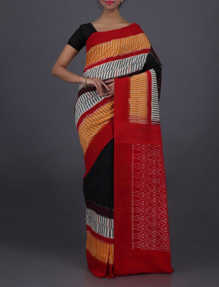 Ashisha Splendorous Lines Ornate Pallu Pochampally Cotton Saree