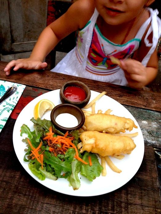 Kids meal: Fish and chips in Biku is an all time favorite kids' meal. (Photo courtesy of littlebalilove.com) http://www.jakpost.travel/news/favorite-family-restaurants-in-bali-by-food-bloggers-YkJGCqevWtXPzdS8.html