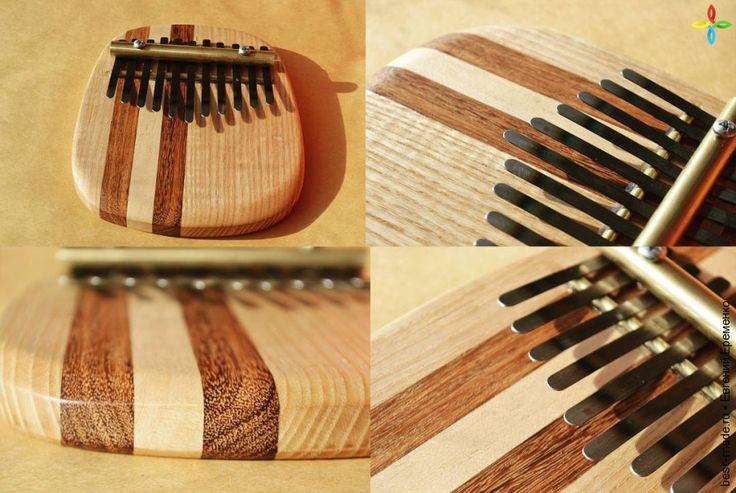 Калимба Солид., древесная плита, латунь, сталь   Bestmade - изделия ручной работы