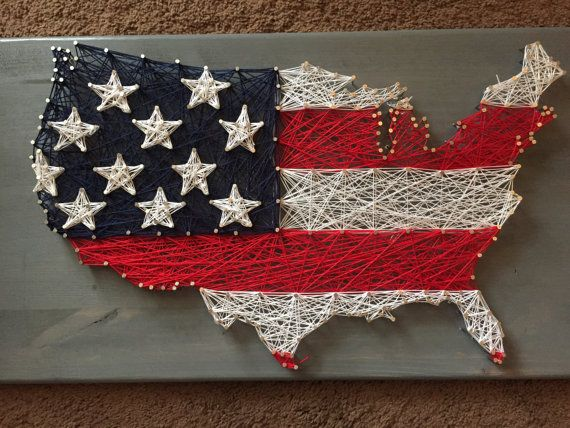 USA Custom String Art Patriotic by ProjectHouseToHome on Etsy