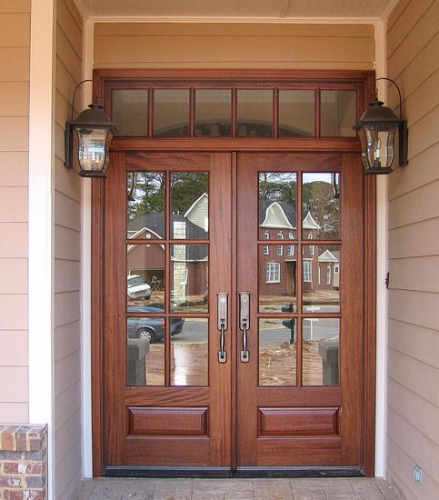 25 best ideas about double entry doors on pinterest for Wood front entry doors